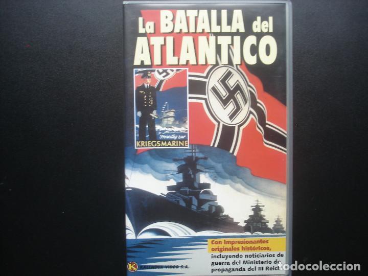 VHS LA BATALLA DEL ATLANTICO. KRIEGSMARINE. KALENDER VIDEO (Cine - Folletos de Mano - Documentales)