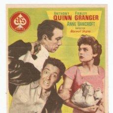 Cine: LA CALLE DESNUDA - ANTHONY QUINN, FARLEY GRANGER, ANNE BANCROFT - DIRECTOR MAXWELL SHANE. Lote 110095919