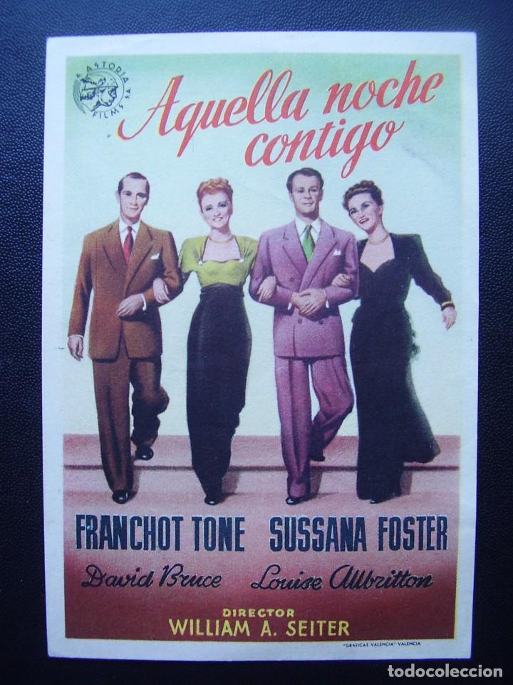 AQUELLA NOCHE CONTIGO, FRANCHOT TONE (Cine - Folletos de Mano - Comedia)