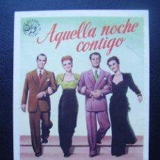Cine: AQUELLA NOCHE CONTIGO, FRANCHOT TONE. Lote 110114715