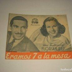 Cine: ERAMOS 7 A LA MESA, PROGRAMA DOBLE SIN PUBLICIDAD. Lote 110122731