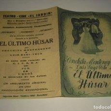 Cine: EL ULTIMO HUSAR. PROGRAMA DOBLE CON PUBLICIDAD. Lote 110127991