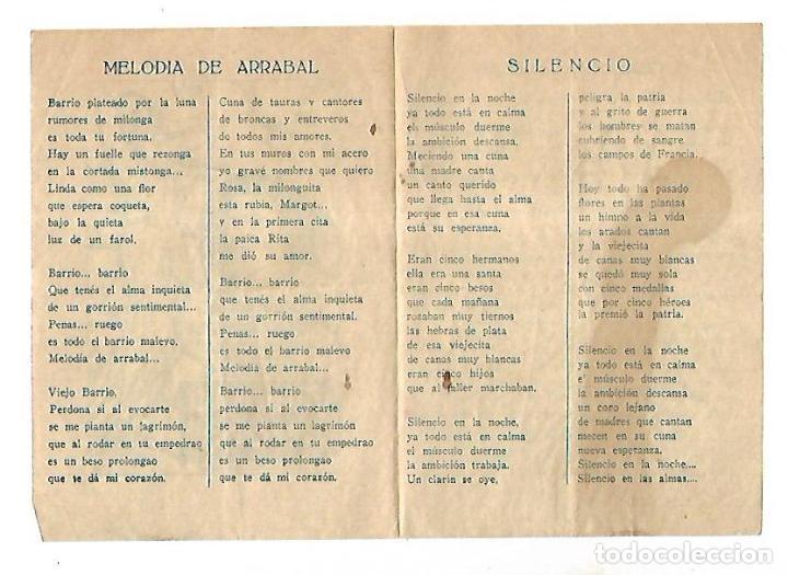 Cine: PROGRAMA DE CINE. MELODIA DE ARRABAL. S/P. CARLOS GARDEL E IMPERIO ARGENTINA. VER - Foto 2 - 110185019