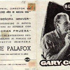 Cine: LA GRAN PRUEBA, CON PUBLICIDAD. Lote 110230107