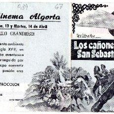 Cine: LOS CAÑONES DE SAN SEBASTIAN, DOBLE CON PUBLICIDAD. Lote 110235843