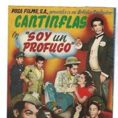 Cine: PROGRAMA DE CINE TROQUELADO. CANTIFLAS. SOY UN PROFUGO. S/P. COLUMBIA FILMS. VER. Lote 110281979