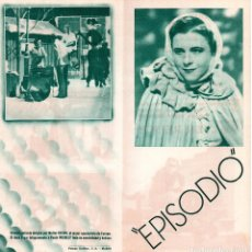 Cine: EPISODIO WARTER REISCH - CON PAULA WESELLY, CARL LUDWIG. Lote 110290219