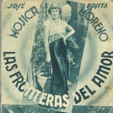 Cine: LAS FRONTERAS DEL AMOR. PROGRAMA DE CINE EN ATENEU CATALA DE SALLENT. FOX EN ESPAÑOL.. Lote 110372331