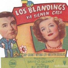 Cine: LOS BLANDINGS YA TIENEN CASA CON CARY GRANT MYRNA LOY CINEMAS LA RAMBLA AÑO 1949. Lote 110393135