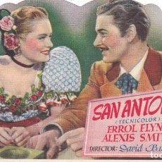 Cine: SAN ANTONIO CON ERROL FLYNN, ALEXIS SMITH TEATRO PRINCIPAL- CINEMA LA RAMBLA AÑO 1949. Lote 110404419