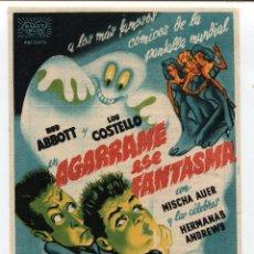 Cine: AGARRAME A ESE FANTASMA, ABRIL DE 1944. Lote 110410683