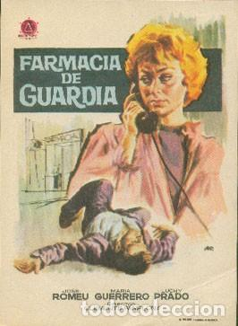 FARMACIA DE GUARDIA (Cine - Folletos de Mano - Clásico Español)