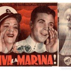 Cine: PROGRAMA DE CINE - ¡ VIVA LA MARINA ! CON DICK POWELL Y RUBY KEELER - CON PROPAGANDA. Lote 110414451
