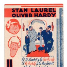 Cine: PROGRAMA DE CINE ORIGINAL- UN LÍO DE FAMILIA. STAN LAUREL Y OLIVER HARDY. AÑO 1935 - LIRICO. Lote 110593655