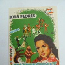Flyers Publicitaires de films Anciens: MARICRUZ LOLA FLORES FOLLETO DE MANO ORIGINAL ESTRENO PERFECTO ESTADO. Lote 110643535
