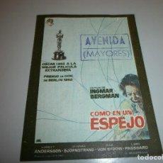 Cine: FOLLETO DE MANO PROGRAMA DE CINE. Lote 110656591