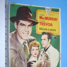 Cine: ALARMA EN LA FRONTERA (CLAIRE TREVOR) - 1950 - *** ANTIGUO FOLLETO CINE NEGRO / DRAMA *** . Lote 110691567