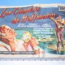 Cine: LOS CUENTOS DE HOFFMANN (PAMELA BROWN) - 1951 - *** ANTIGUO FOLLETO CINE MUSICAL /ROMANCE *** . Lote 110691895