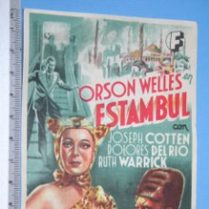 Cine: ESTAMBUL (ORSON WELLES) - 1943 - *** ANTIGUO PROGRAMA DOBLE CINE NEGRO / THRILLER *** . Lote 110697883