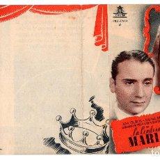 Cine: PROGRAMA DE CINE DOBLE - LA CONDESA MARÍA / LINA YEGROS - SIN PUBLICIDAD - CIFESA.- AÑO 1943 . Lote 110714223