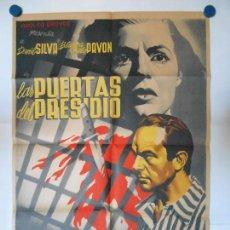 Cine: LAS PUERTAS DEL PRESIDIO - RENAU - CARTEL LITOGRAFICO - ORIGINAL - 70 X 100. Lote 110894727