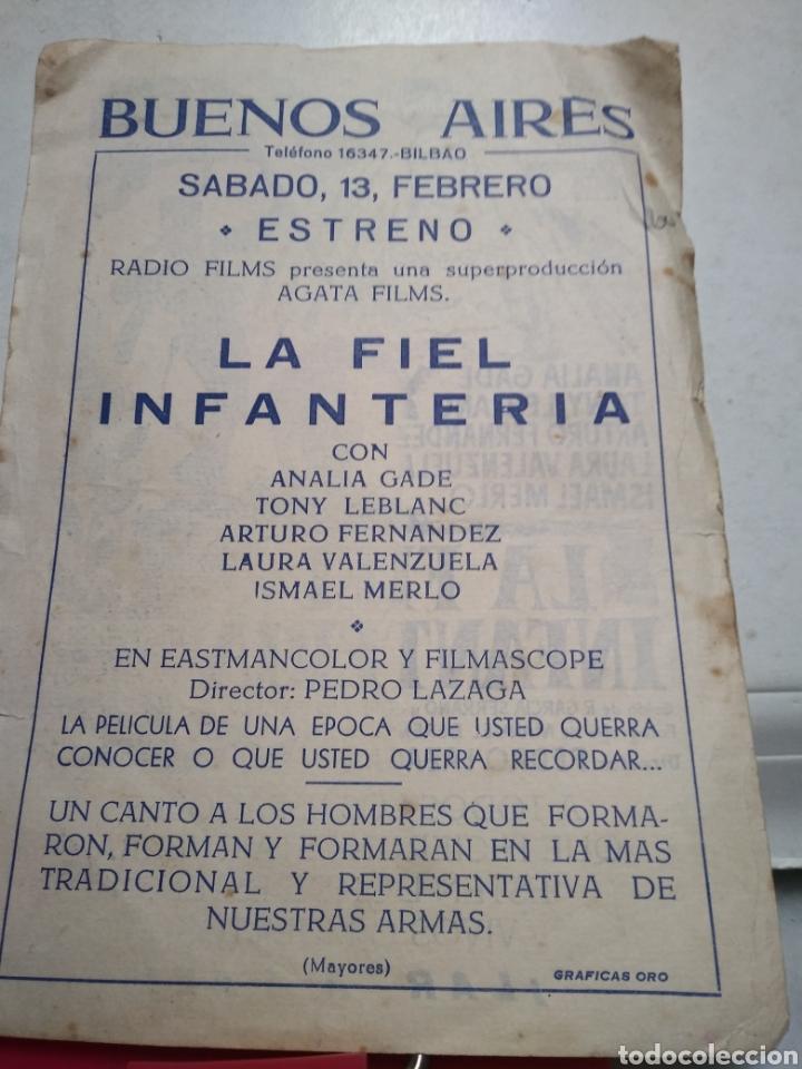 Cine: LA FIEL INFANTERIA. CINE BUENOS AIRES. BILBAO. - Foto 2 - 110952107