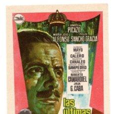 Cine: LAS ULTIMAS HORAS (ALFREDO MAYO - MARIA JOSE ALFONSO) CEPICSA 1965 . Lote 110955103