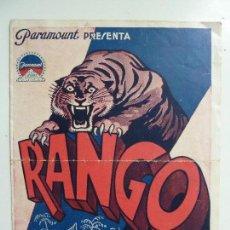 Cine: RANGO. DOBLE CON PUBLICIDAD. AÑO 1933. Lote 111281687