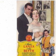 Cine: EL GRAN CARUSO CON MARIO LANZA ANN BLYTH CINE TEATRO PRINCIPAL CINEMA LA RAMBLA AÑO 1953. Lote 111367271