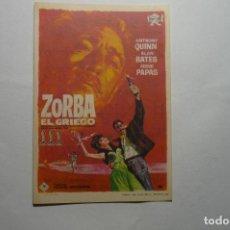 Cine: PROGRAMA ZORBA EL GRIEGO .-A.QUINN PUBLICIDAD. Lote 111387739