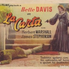 Cine: BETTE DAVIS LA CARTA . Lote 111492259
