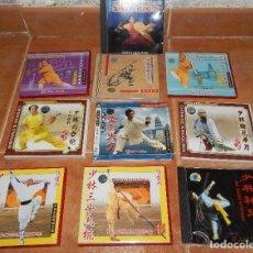 Cine: 8 VIDEOS DE SHAOLIN KUNG FU ARMAS Y 2 CDS DE MUSICA SHAOLIN PARA ENTRENAMIENTO. WUSHU.. Lote 111540555