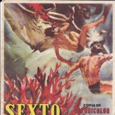 Cine: SEXTO CONTINENTE 1956. Lote 111572567