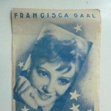 Cine: PETER. FRANCISCA GAAL. DOBLE CON PUBLICIDAD. AÑO 1936. Lote 111586379