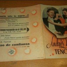 Cine: PROGRAMA DE CINE DOBLE CON PUBLICIDAD TENORIO. Lote 111580892