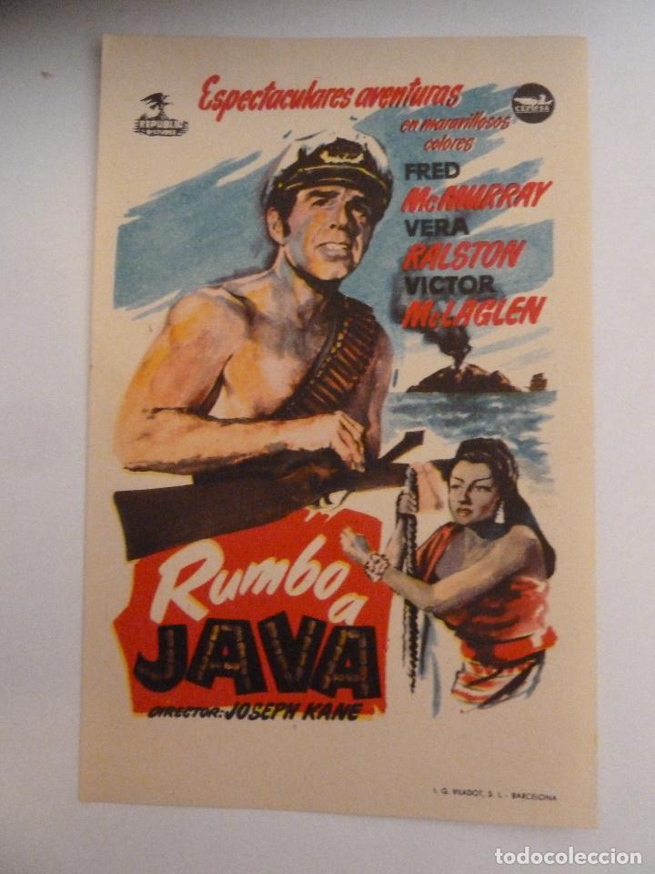 rumbo a java fred mcmurray joseph kane - follet - Comprar Aventura    Folletos de mano de películas antiguas de cine en todocoleccion - 111601547