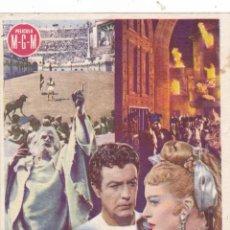 Cine: QUO VADIS CINEMA LA RAMBLA AÑO 1954 CON ROBER TAYLOR Y DEBORAH KERR CINEMAS LA RAMBLA Y PRINCIPAL. Lote 111604079