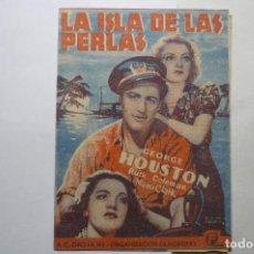 Cine: PROGRAMA DOBLE LA ISLA DE LAS PERLAS - GEORGE HOUSTON .-PUBLICIDAD. Lote 111730287