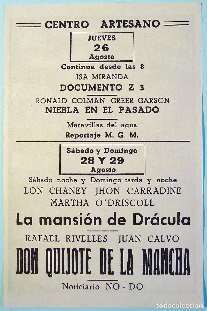 Cine: LA MANSION DE DRACULA. CHANEY, CARRADINE, .. DORSO PUBLICIDAD. BUEN ESTADO. - Foto 2 - 111869667