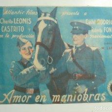 Cine: AMOR EN MANIOBRAS. DOBLE CON SELLO CINE. Lote 183834302