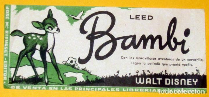 BAMBI FOLLETO DE CINE DE MANO ORIGINAL IMPECABLE (Cine - Folletos de Mano - Infantil)