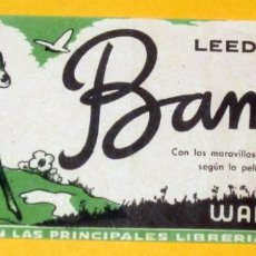 Cine: BAMBI FOLLETO DE CINE DE MANO ORIGINAL IMPECABLE. Lote 111909239