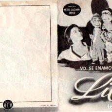 Cine: PROGRAMA DE CINE DOBLE. LILÍ. Lote 111919755