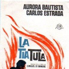 Folhetos de mão de filmes antigos de cinema: PROGRAMA DE CINE. LA TIA TULA. Lote 111959559