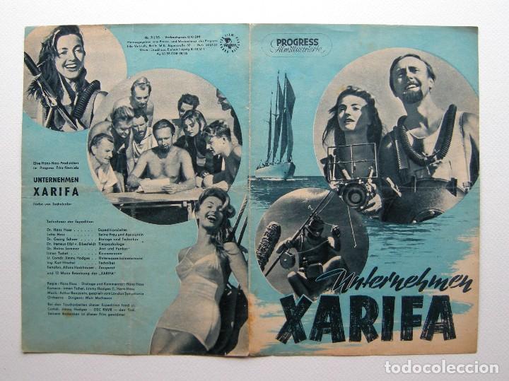 PROGRAMA ORIGINAL ALEMANIA DEL ESTE / 1955 / UNTERNEHEMEN XARIFA / HANS HASS / LOTTE HASS (Cine - Folletos de Mano - Documentales)