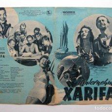 Cine: PROGRAMA ORIGINAL ALEMANIA DEL ESTE / 1955 / UNTERNEHEMEN XARIFA / HANS HASS / LOTTE HASS. Lote 287792273