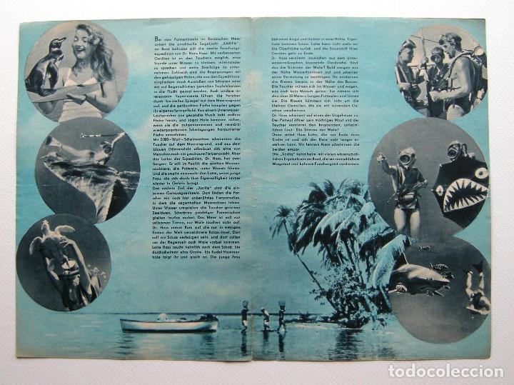 Cine: Programa original Alemania del Este / 1955 / Unternehemen Xarifa / Hans Hass / Lotte Hass - Foto 2 - 111965207