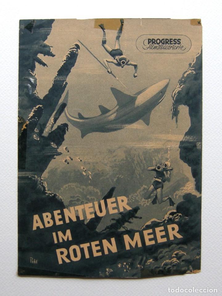 PROGRAMA ORIGINAL ALEMANIA DEL ESTE / 1955 / ABENTEUR IM ROTEN MEER / HANS HASS / LOTTE HASS (Cine - Folletos de Mano - Documentales)