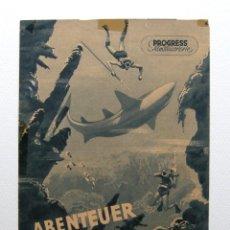 Cine: PROGRAMA ORIGINAL ALEMANIA DEL ESTE / 1955 / ABENTEUR IM ROTEN MEER / HANS HASS / LOTTE HASS. Lote 111965971
