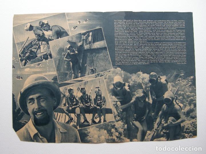 Cine: Programa original Alemania del Este / 1955 / Abenteur im Roten Meer / Hans Hass / Lotte Hass - Foto 2 - 111965971